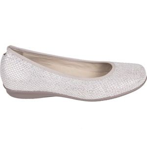 Earthies Metallic Silver Soft Suede Flat Shoes
